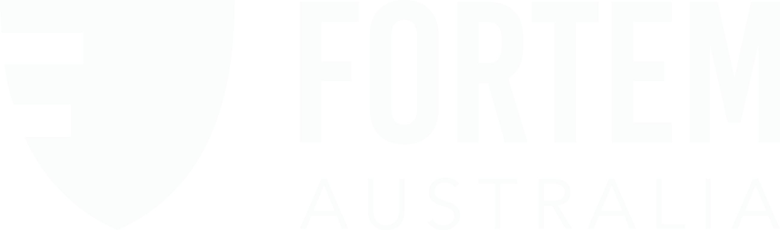 Fortem Australia logo inline white